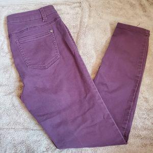 Tinseltown Womens Purple Jeans